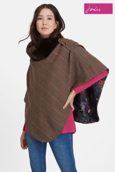 Joules Hardy Tweed Poncho
