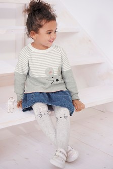 Mouse Jumper And Tights Set (3mths-7yrs)