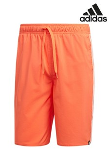 adidas True Orange 3 Stripe Swim Short