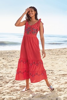 81db8739a57e72 Embroidered Maxi Dress