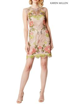 Karen Millen Nude Chemical Lace Dress
