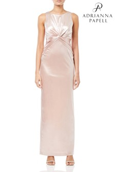 Adrianna Papell Halter Long Dress