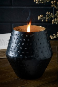 Pomegranate And Black Lily Ceramic Metal Candle