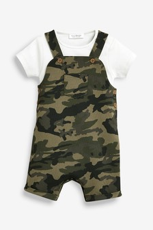 Cropped Dungarees And Bodysuit Set (0mths-2yrs)