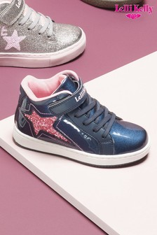 Lelli Kelly Blue Patent High Top Trainers