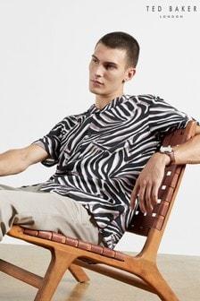 Ted Baker Animal Print Revere Collar Shirt