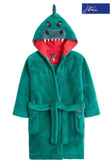 Joules Herb Green Dino Character Dressing Gown