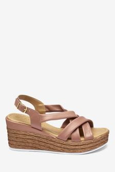 Tube Leather Wedges