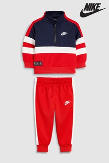 Nike Air Little Kids Red Tracksuit