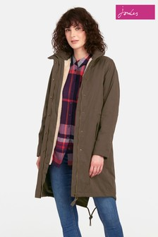 Joules Green Windfield Wax Jacket With Removable Lining