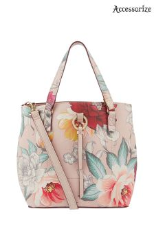 Accessorize Pink Double Handed Bucket Bag