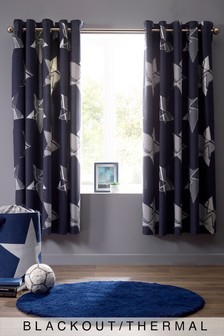 Geometric Stars Eyelet Curtains