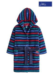Joules Navy Multi Stripe Dressing Gown