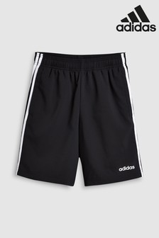adidas Black 3 Stripe Woven Short