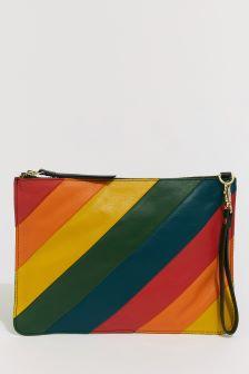 Warehouse Rainbow Panelled Cross Body Bag