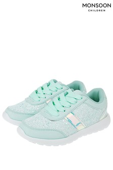 Monsoon Mint Kayla Glitter Runner Trainer