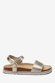 Jute Footbed Sandals