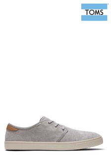 TOMS Grey Carlo Lace-Up Shoes