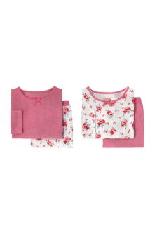Cath Kidston® White Pansies Pyjamas Two Pack
