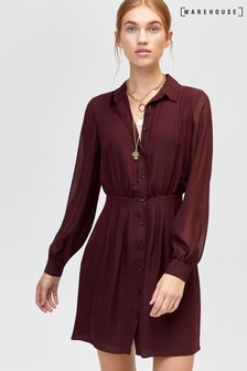 f7c2276388b Women s Dresses Warehouse Red Shirt Dress Shirtdress