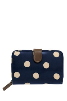 Cath Kidston® Button Spot Folded Zip Wallet