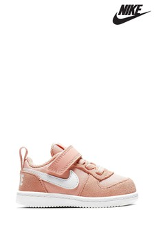 Koralowe buty Nike Court Borough Infant
