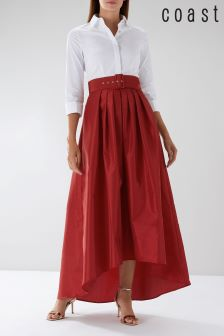 Coast Red Simone Belted Skirt