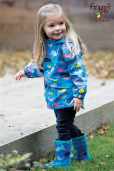 Frugi Blue Puddle Buster Narwhal Natter Wellington Boot