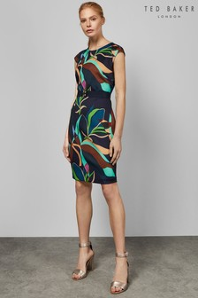 be6efa3829f9cc Ted Baker Adilyyn Navy Supernatural Structure Bodycon Dress