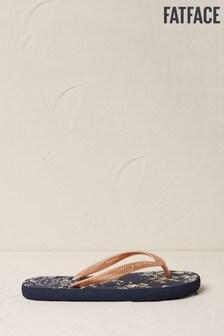 FatFace Blue Portloe Metallic Palm Sandals