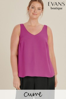 Evans Pink Curve Double Layer Cami