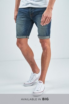 Vintage Wash Denim Shorts