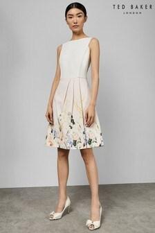Ted Baker Pink Kalla Sweetheart Neck Elegant Dress