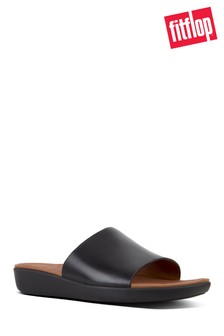 כפכפי עור מדגם Steffy Dress Pool Side של FitFlop™ בצבע שחור