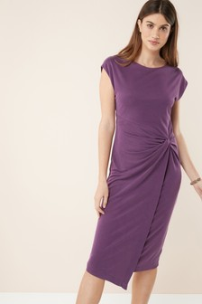 Cupro Twist Dress