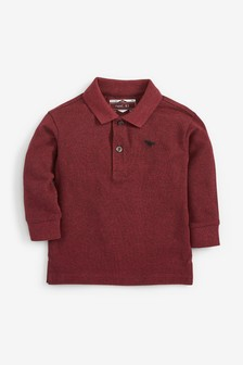 Long Sleeve Textured Poloshirt (3mths-7yrs)