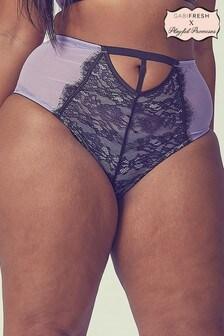 Gabi Fresh Lilac Contrast Lace High Waist Brief