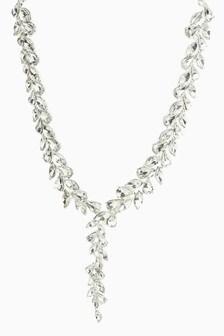 Crystal Effect Y Short Necklace