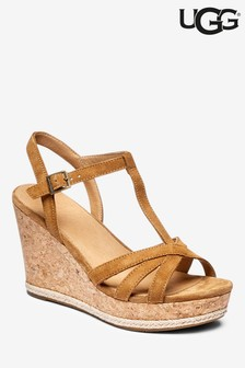 UGG® Melissa Chestnut Strappy Wedge Sandal