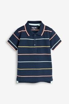 Short Sleeve Fluro Stripe Polo (3mths-7yrs)