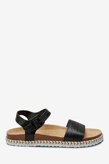 Sandales avec semelle intérieure en jute