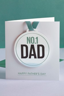 No. 1 Dad Medal Card