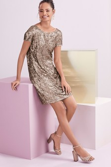 04472b43 Gold Dresses | Embellished Gold Dresses | Next Official Site