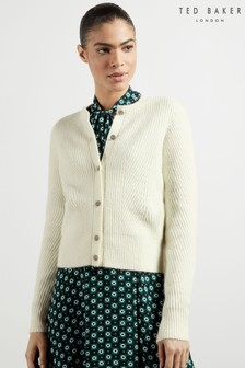 Ted Baker White Rosi Interest Stitch Cardigan