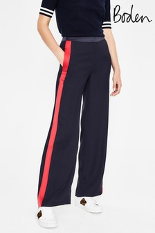 Boden Blue Exeter Wide Leg Trouser