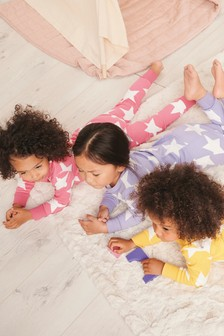 3 Pack Star Snuggle Pyjama (9mths-8yrs)