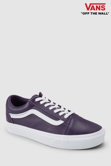 Vans Purple Leather Old Skool Trainer