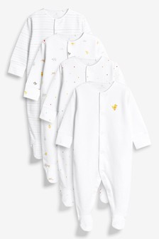 Farm Animal Character Sleepsuits Four Pack (0mths-2yrs)