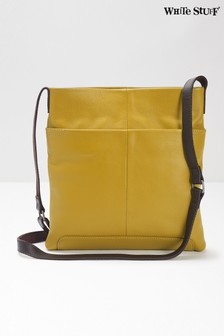 White Stuff Green Issy Leather Cross Body Bag
