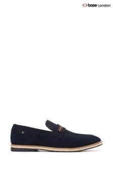 Base London® Blue Kinsey Suede Slip-On Loafers